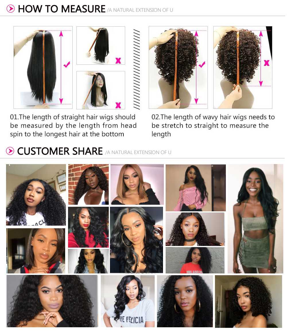 360 Lace Frontal Long Kinky Straight 180% Density Human Hair Wigs