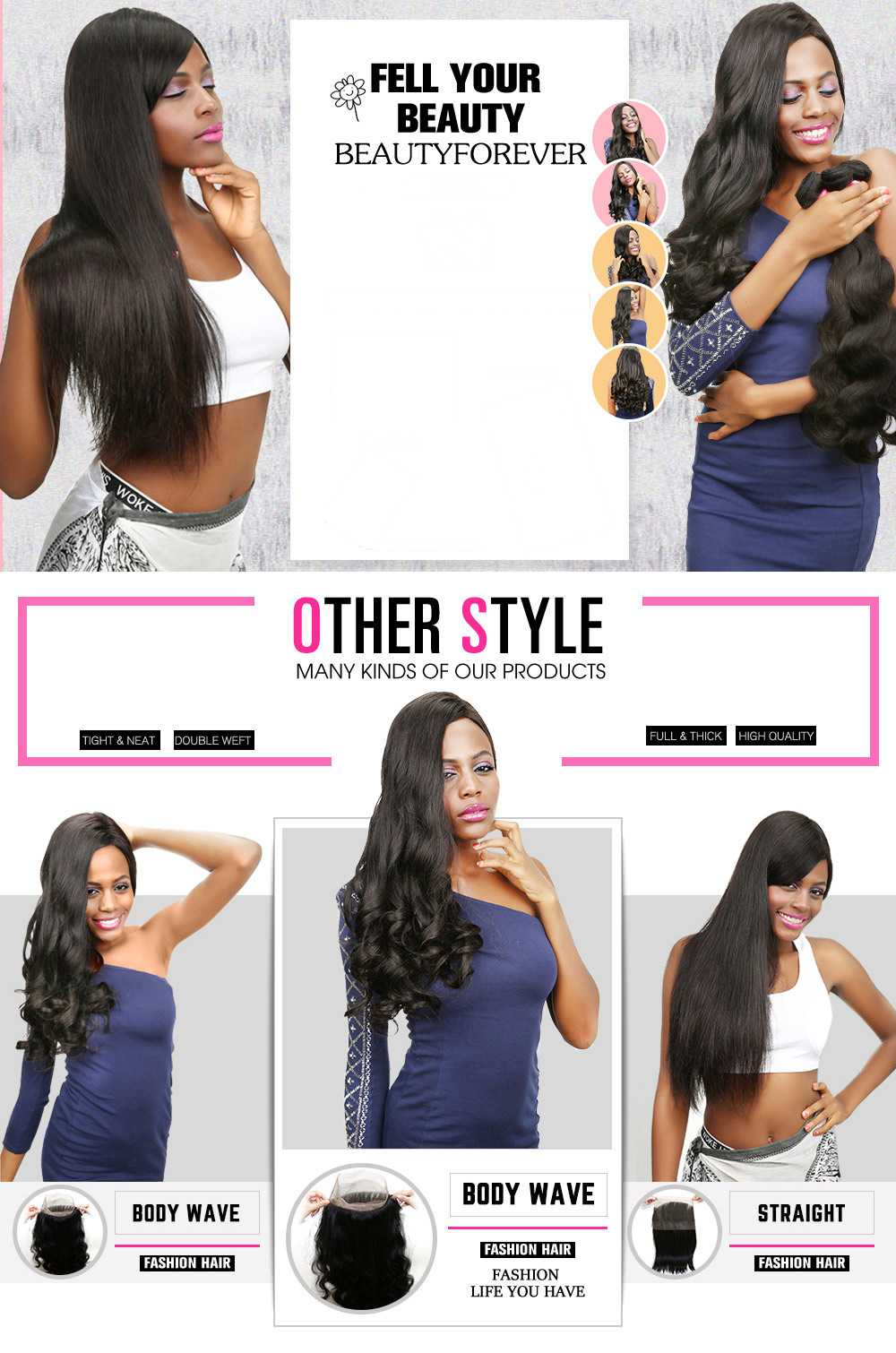 Straight Remy Human Hair Weave