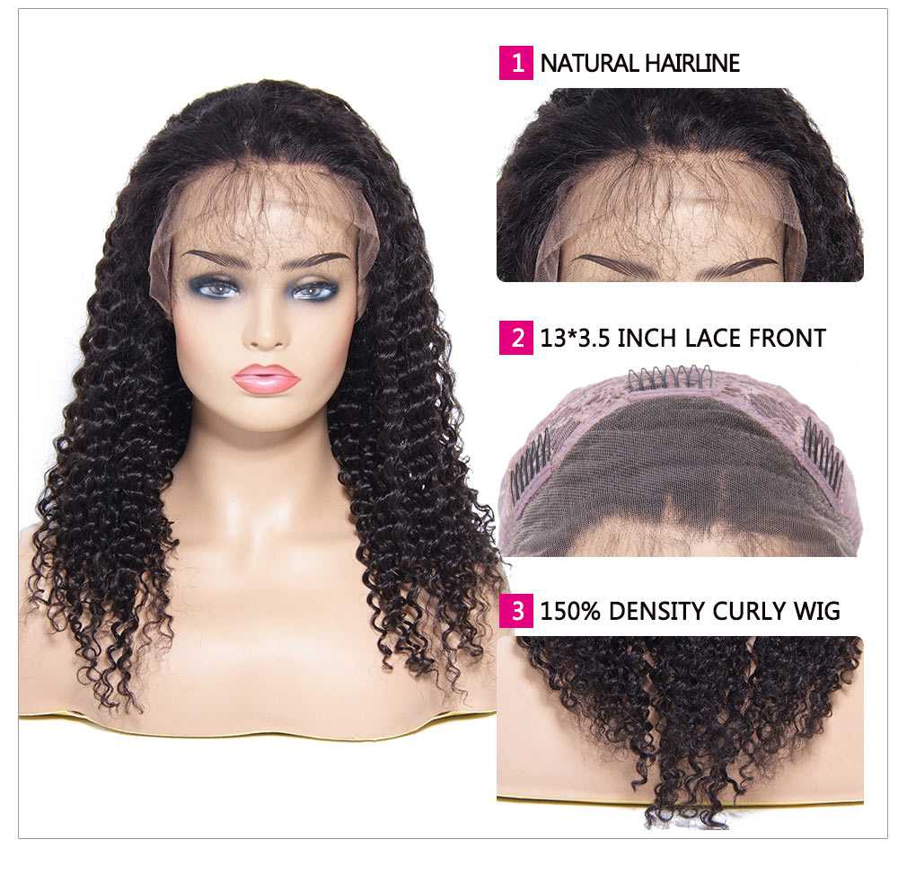 Human Hair Jerry Curly Lace Front Wigs